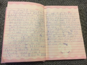 The illegible writing of 5 year old me
