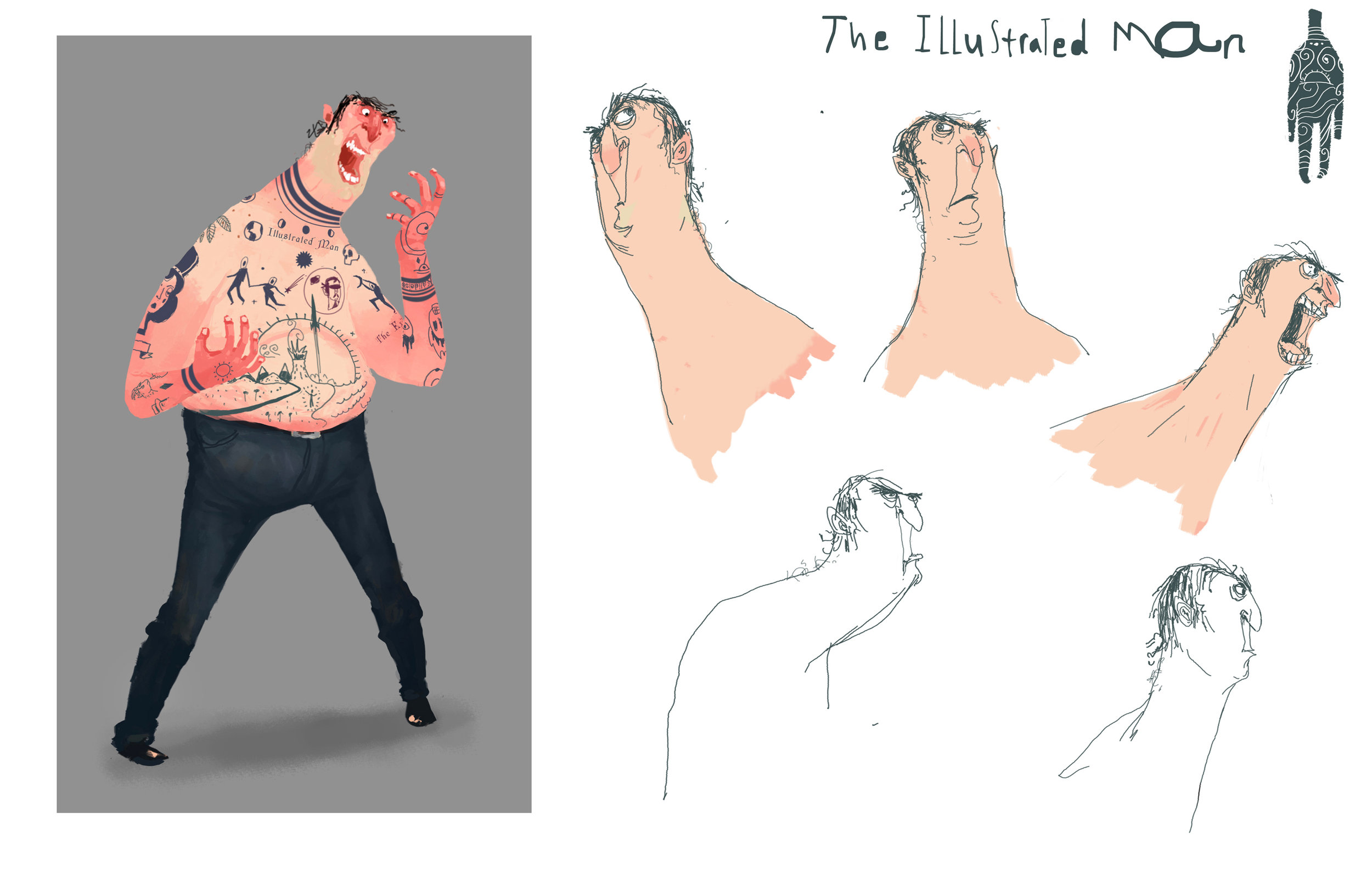Illustrated Man Character