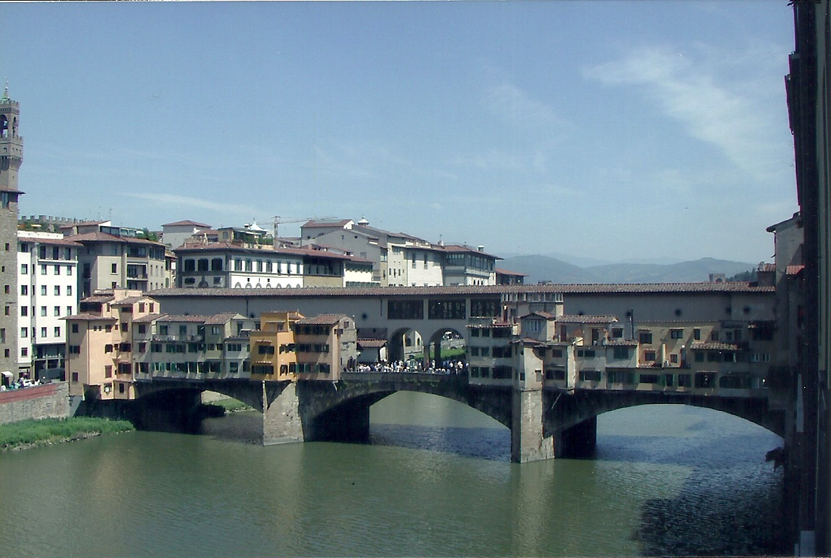 View of the Ponte Vecchio from our room at Hotel Lungarno