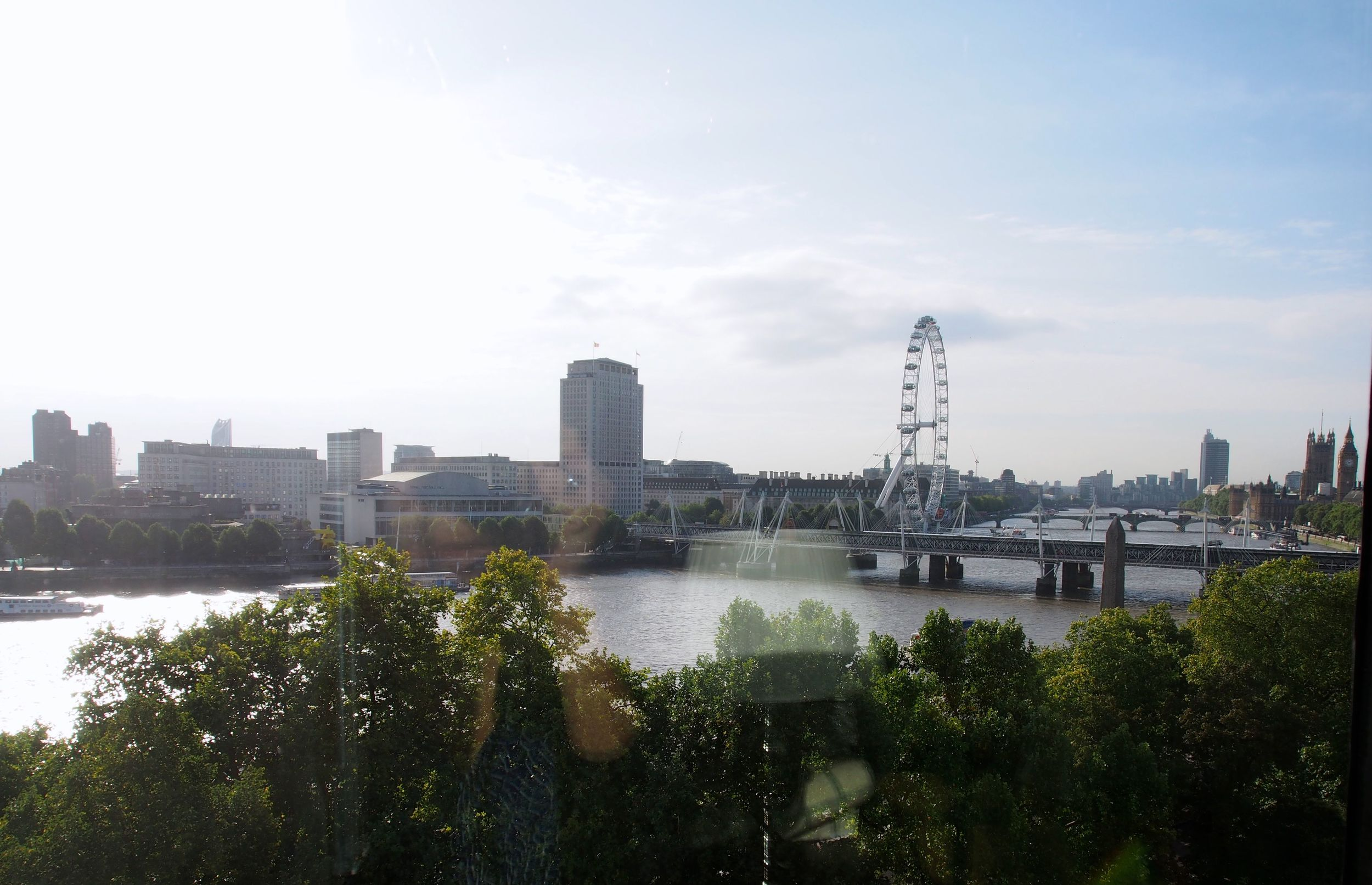 View of the Thames and London Eye from Guest Room
