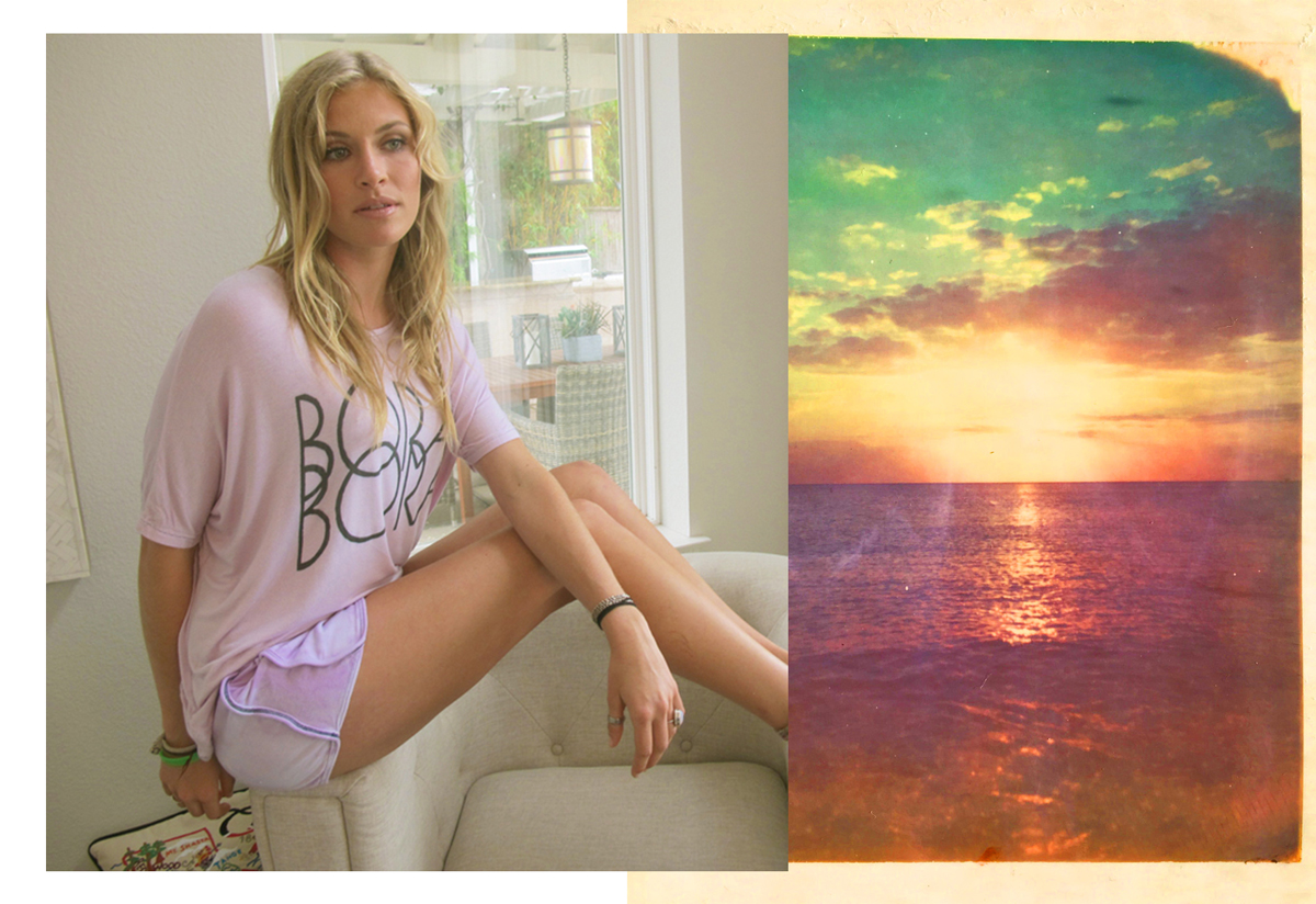 """""""Bora Bora"""" Cloud Tee in Orchid by Ash Francomb"""