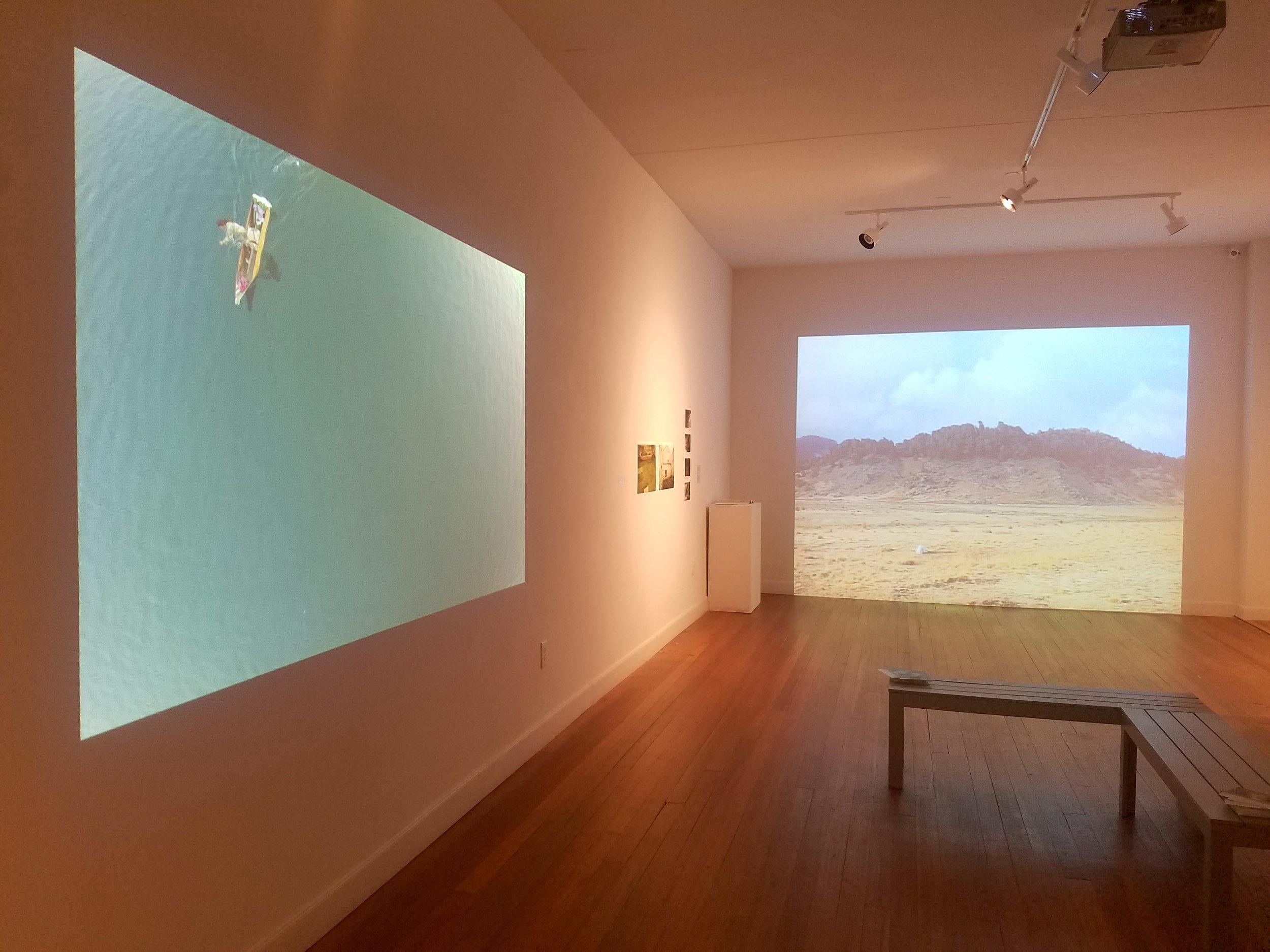 Installation view of  Una piedra y la lluvia  at Lawndale Art Center, Houston, TX. March 2017.