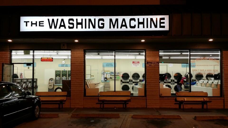 A beautiful night at the laundromat
