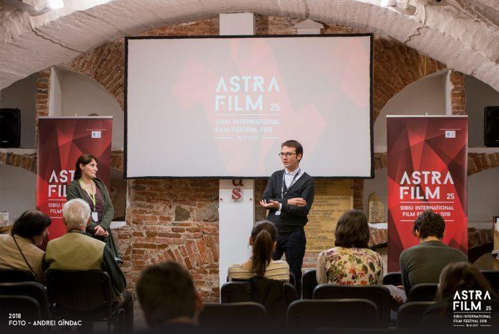 Toma Peiu participates in a Q&A session at Habitus, Sibiu - October 18th, 2018 @ Astra Film Festival.