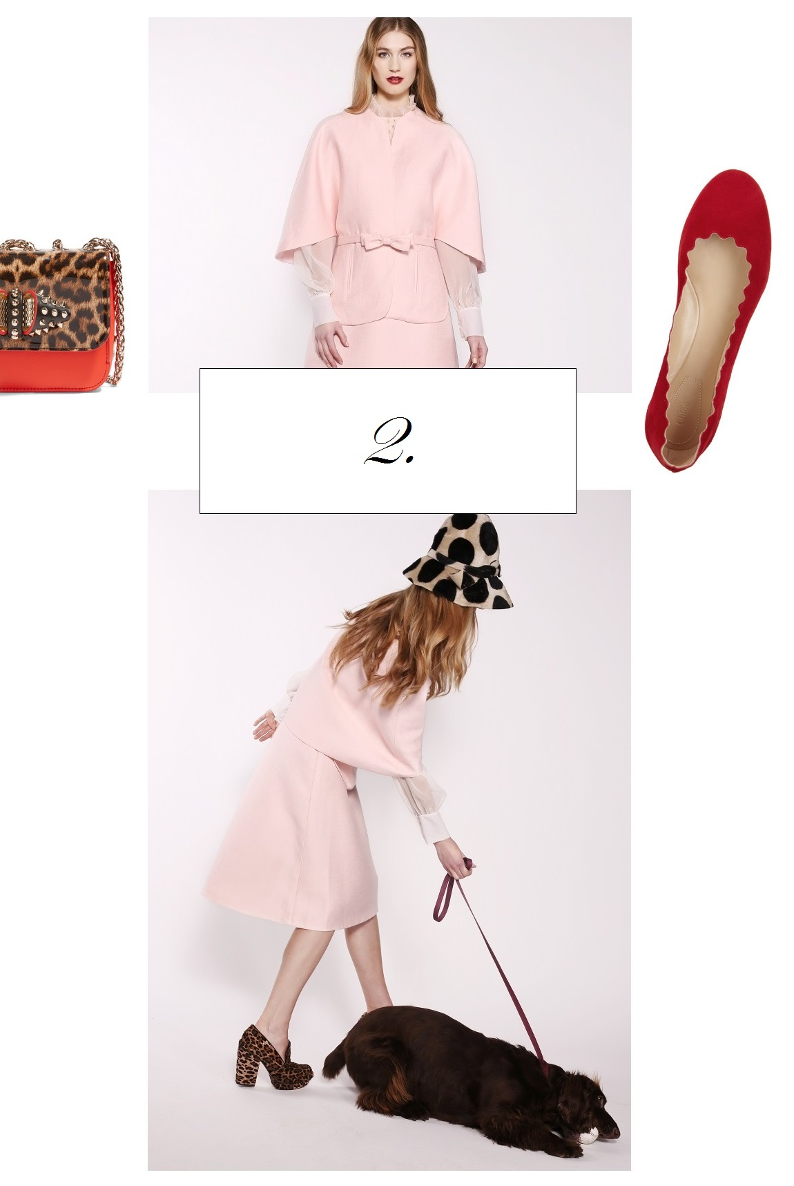 Embrace curves and form with this pale pink cape. The cape is lined with pure silk. In fact, we always use PURE SILK as lining #silkliningoflife . . . The possibilities of styling this luxurious number are endless. We love it paired with jeans, red velvet slippers and leopard accessories for a STROLL IN THE CITY. It is so chic and timeless! Another option is recreating our look book styling, but to pull this one on you have to be a Parisian girl. At least in your heart . . .