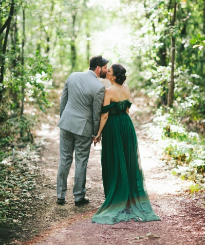 emerald green chiffon wedding gown_Veronica Sheaffer gown_Stoffer Photography.jpg