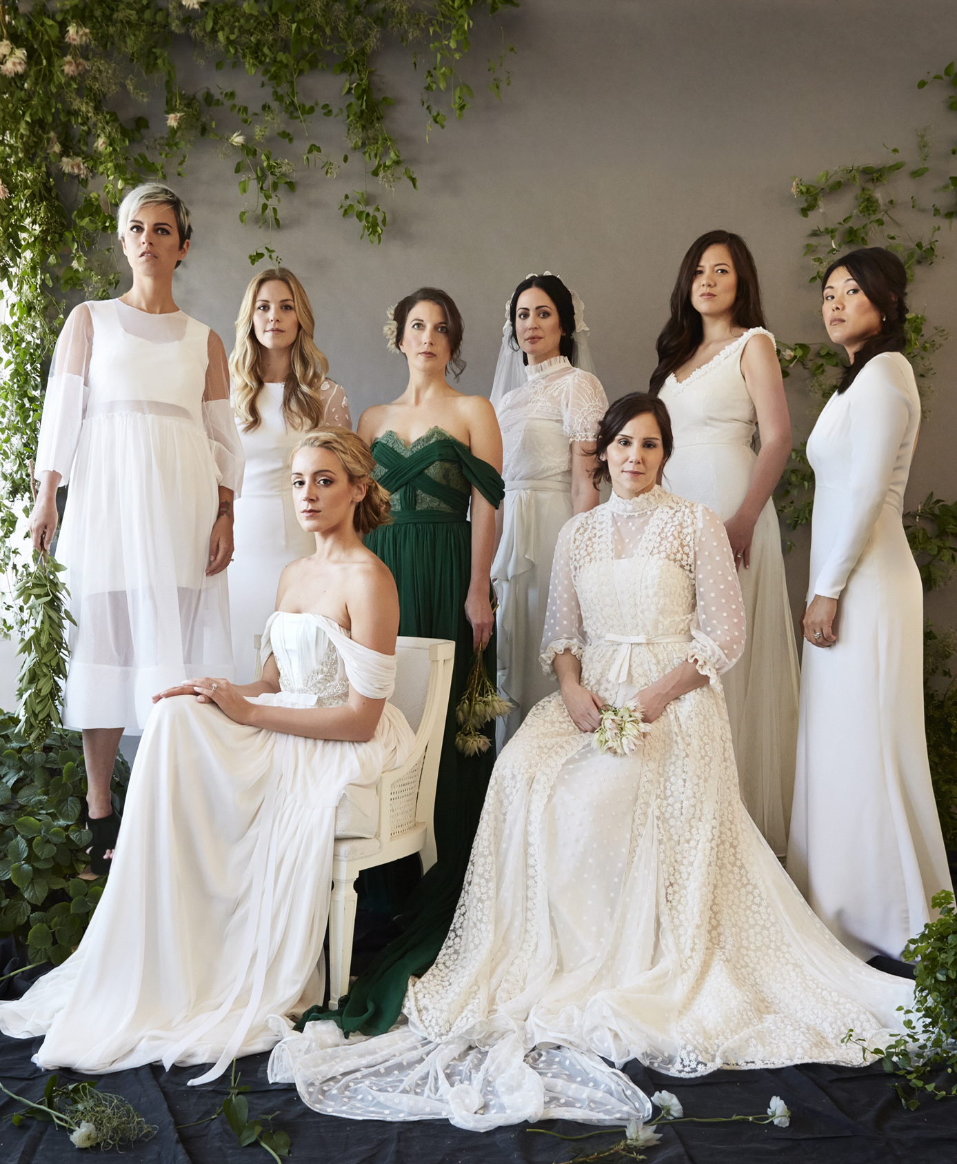 REAL BRIDES: Molly, Lauren, Beth, Rachel, Glorily, Alison, Kim and Jennifer / Image by Anjali Pinto, Hair by Debra Petrielli, Makeup by Joanna Bastermajian