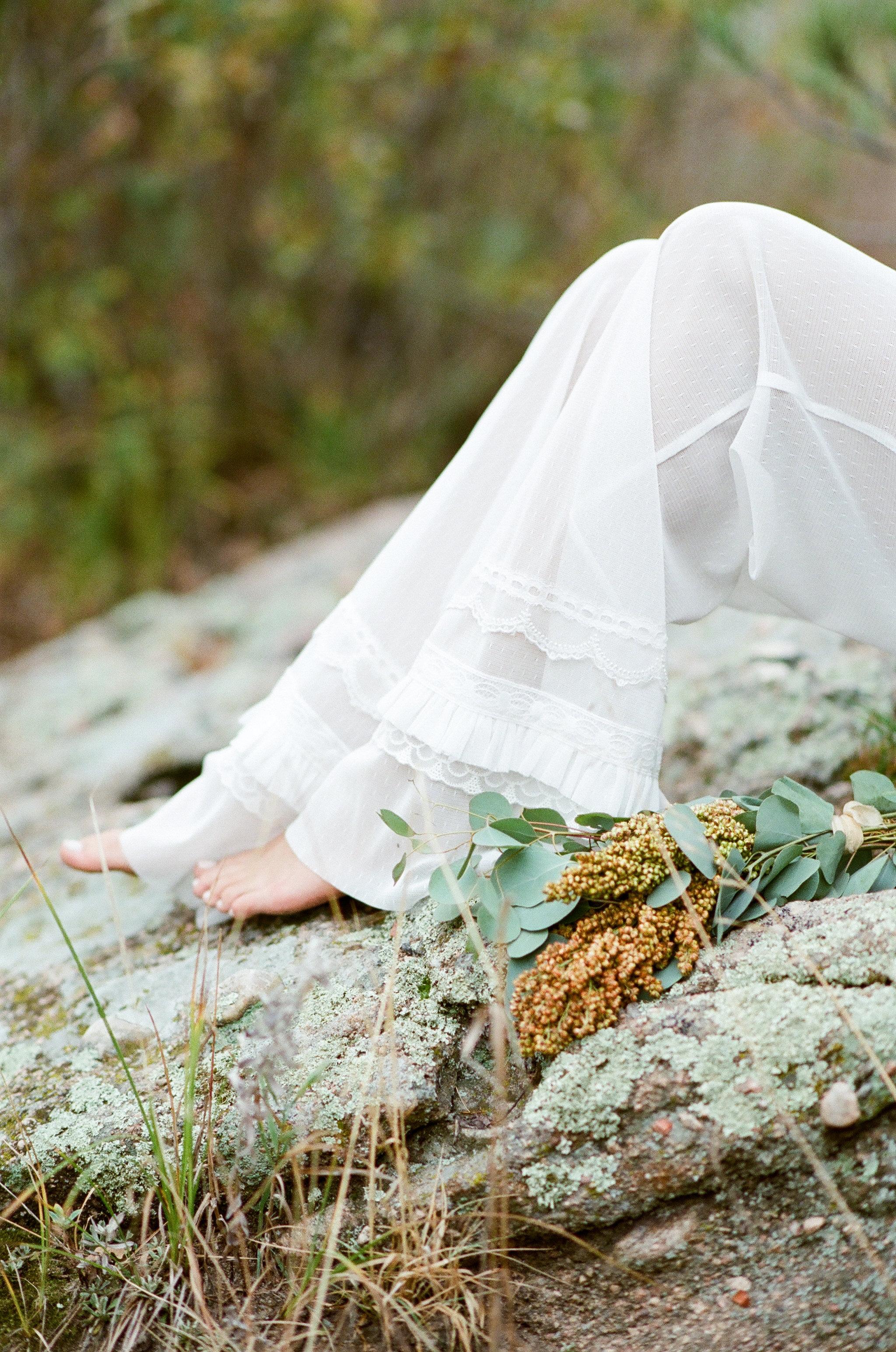 Sheer lace pajama pants