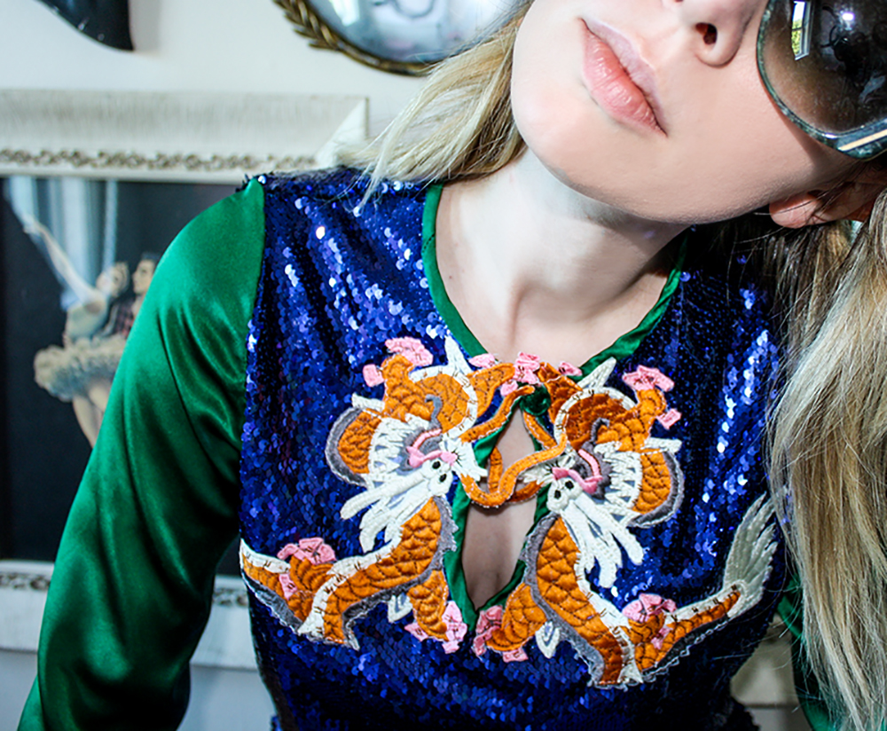 Sequin Dragon Top