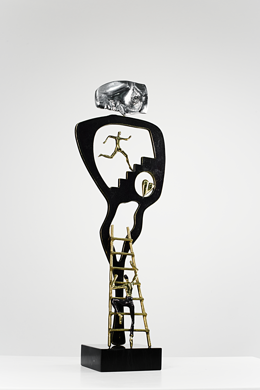 My Inner Self  Bronze, Aluminum Ed. /35 Sandcast 48 x 17 x 10 cm