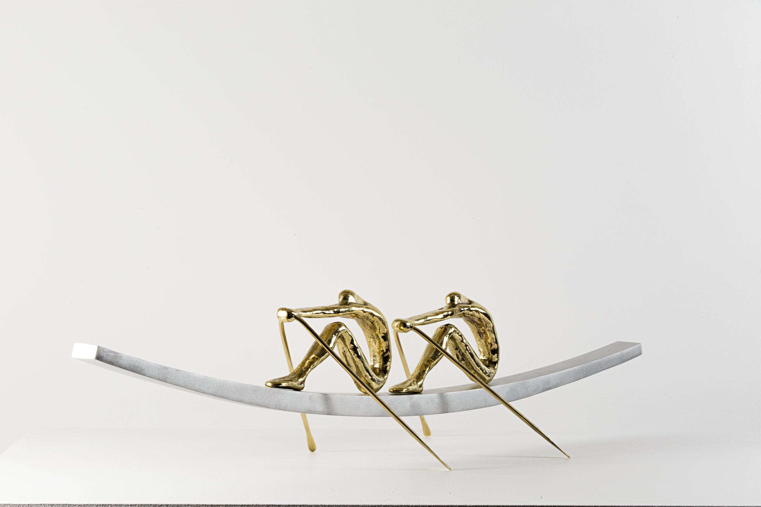 The Rowers  Bronze, Aluminum Ed. /30 Sandcast 22 x 90 x 25 cm