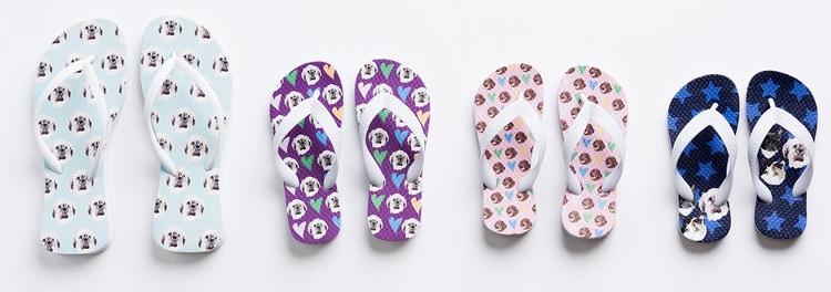 Custom flip flops - with Noble Pet Shop.