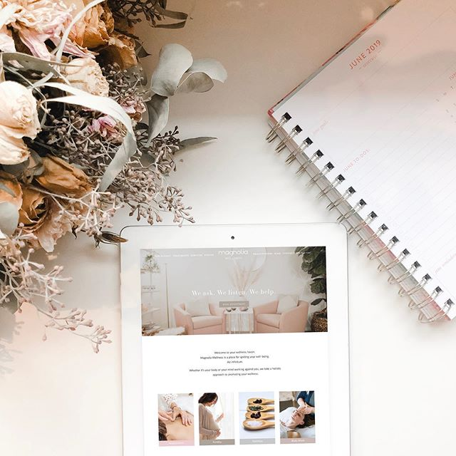 A fun web design we did with @magnoliawellnessoc 🌸 We took ALL the info they had and simplified it while still keeping their messaging clear. Who needs a time out!? 💁🏻‍♀️ head on over and visit them for some inspiration.