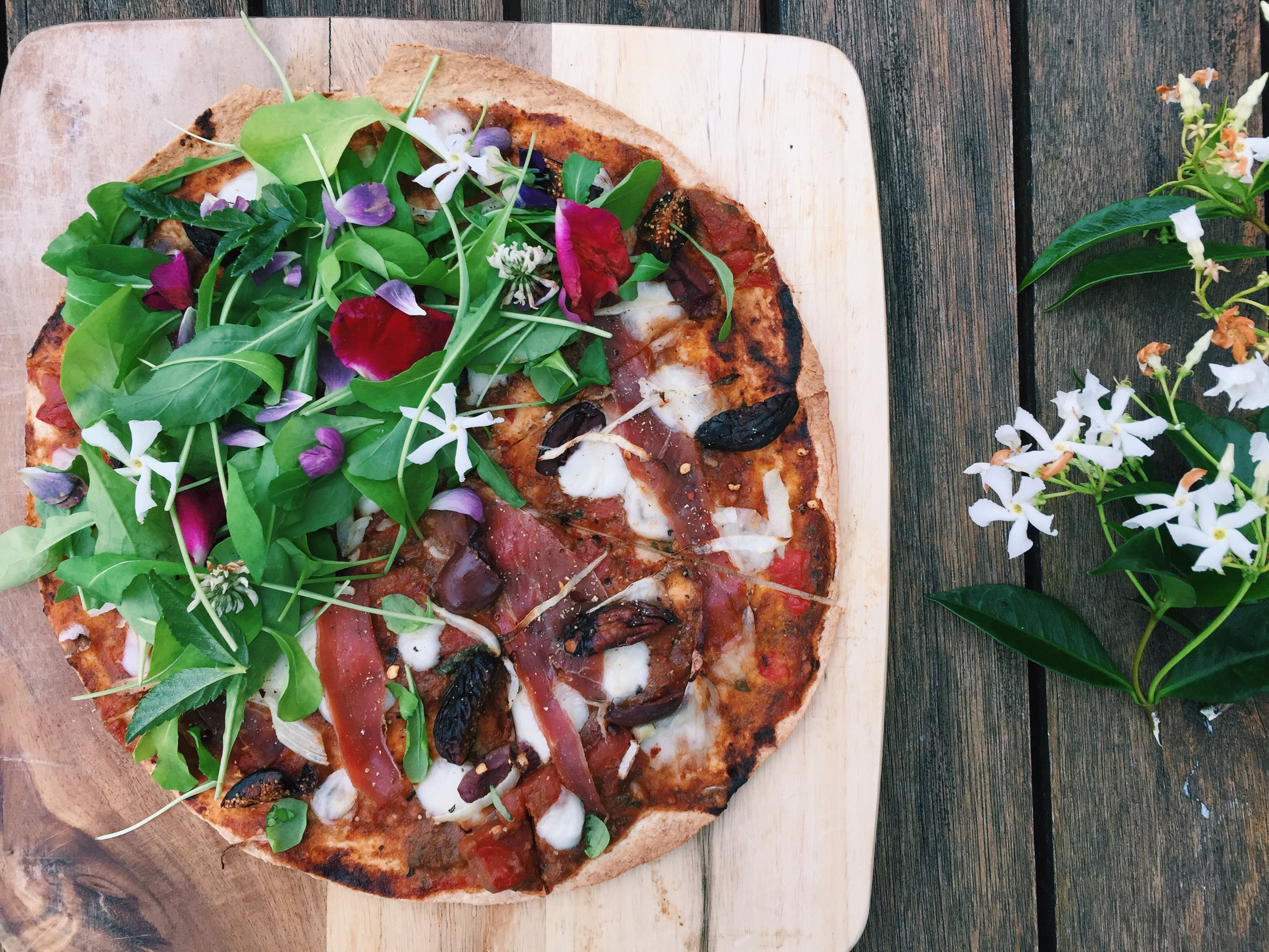 Sweet. Salty. Tangy. Spicy. All the ingredients for a perfect mate   (o  r your pizza). Add some flowers to the mix and you've got   a recipe for a night of some sweet, sweet lovin'.