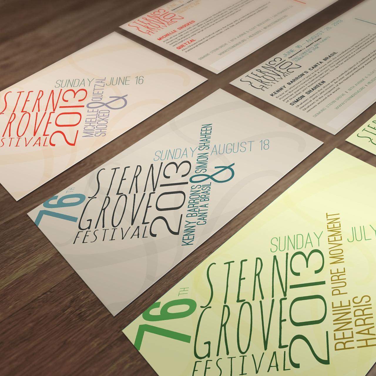 Stern Grove - Type Driven Postcard Design