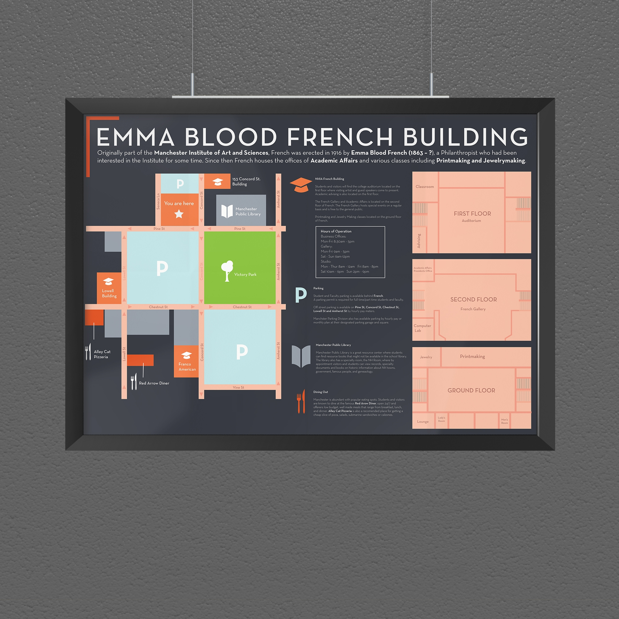 NHIA French Building - Wayfinding Map