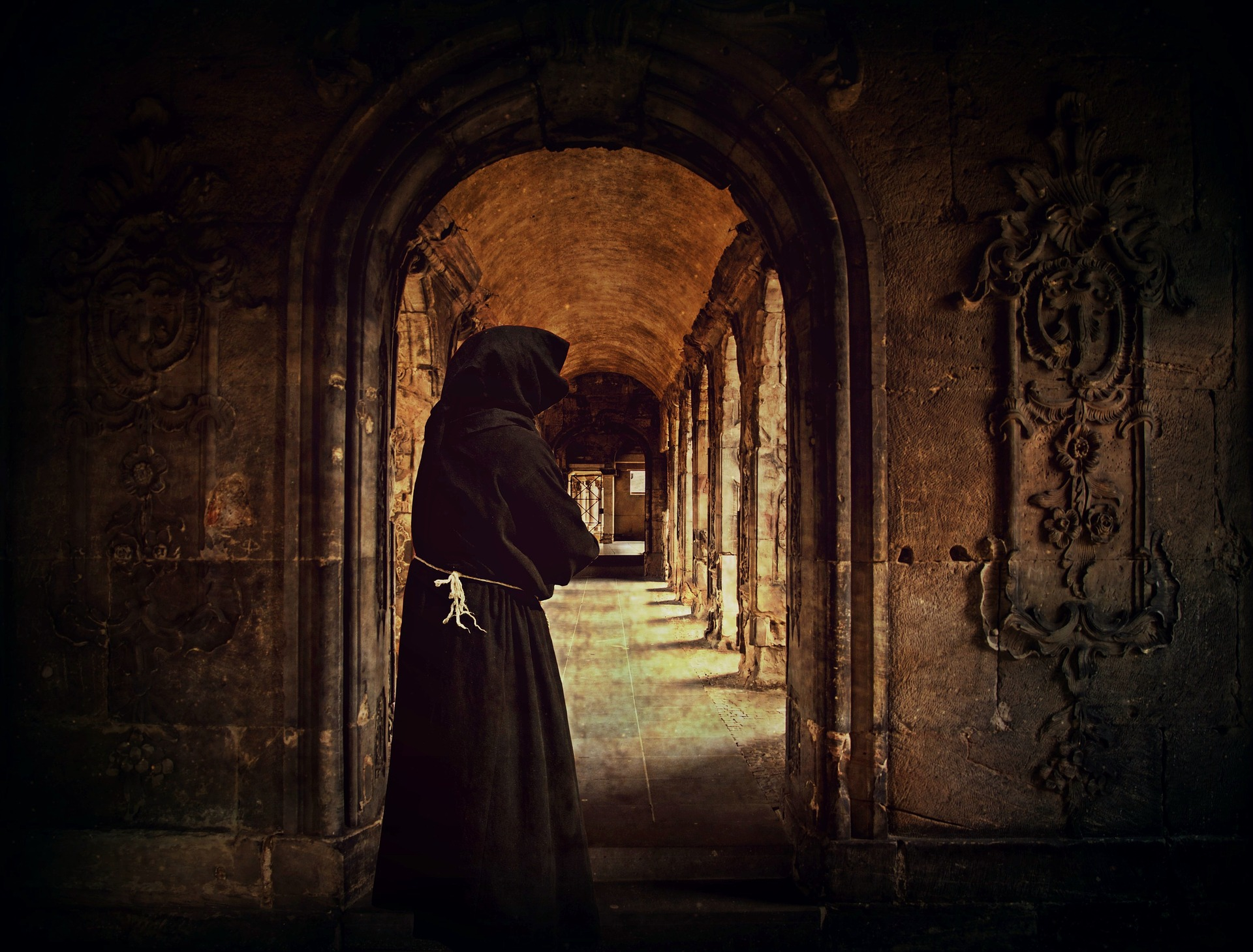 Religious person in Monastery