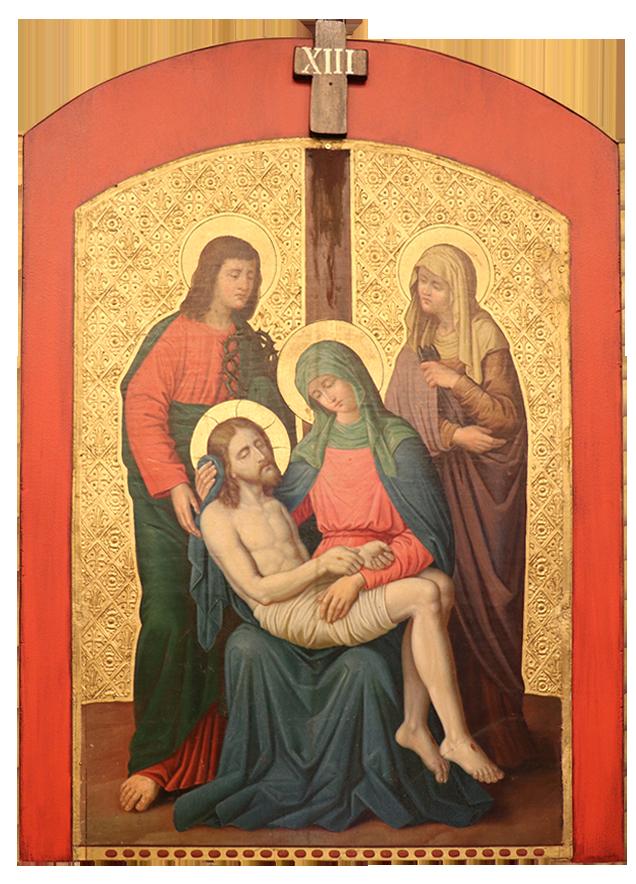 13. Jesus is taken down from the cross
