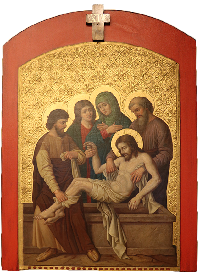 14. Jesus is placed in the tomb