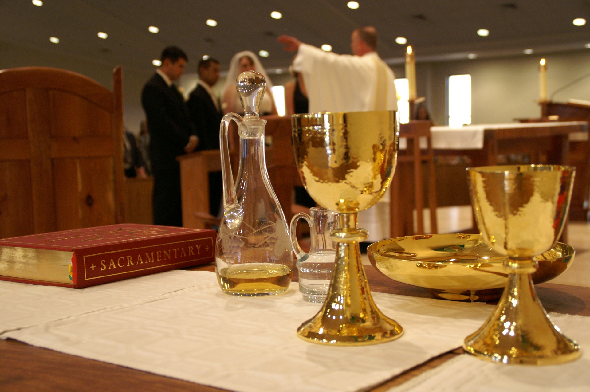 Eucharist during Wedding Mass
