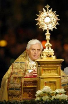 Pope Benedict XVI with Monstrance