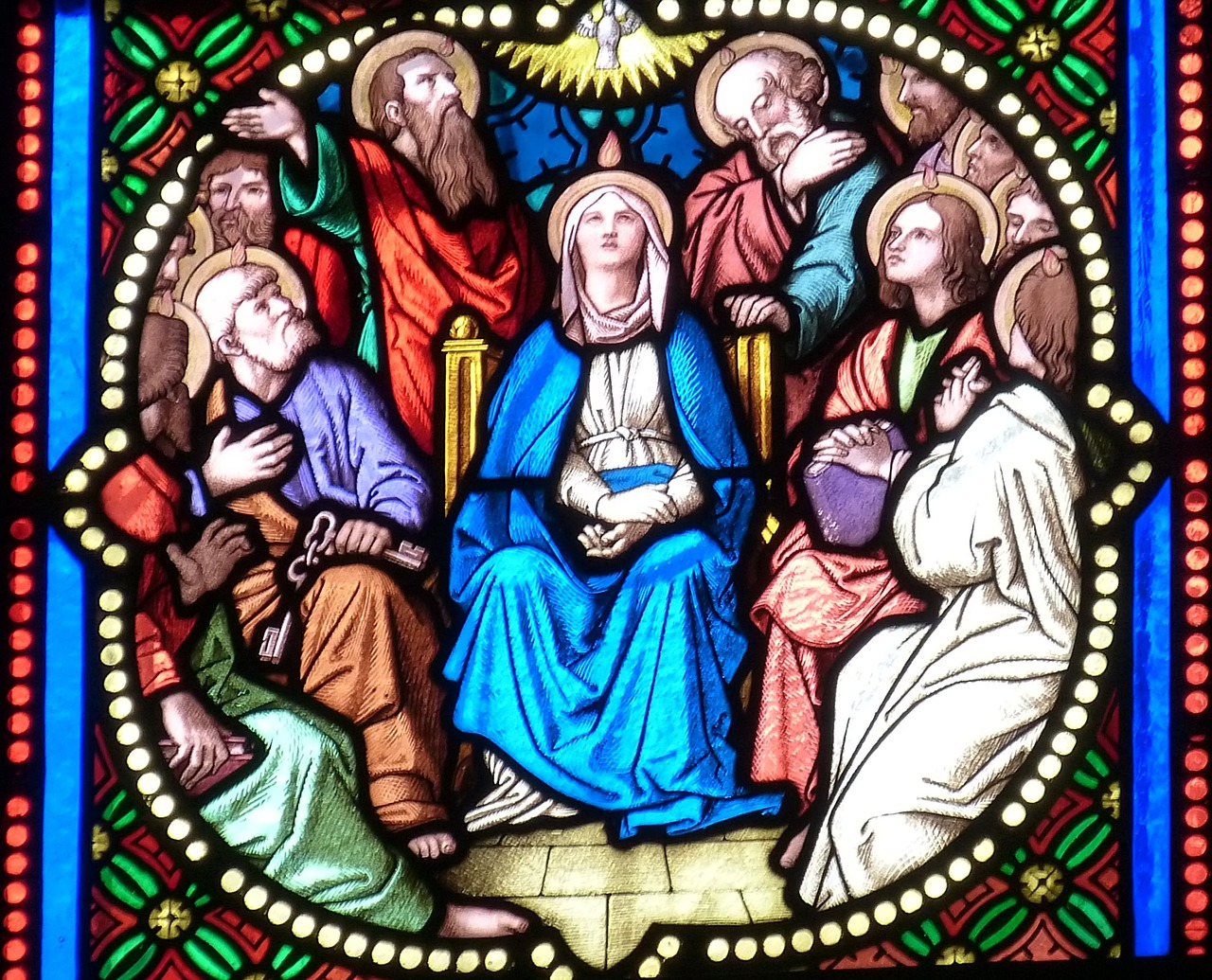 Mary and Apostles at Pentecost