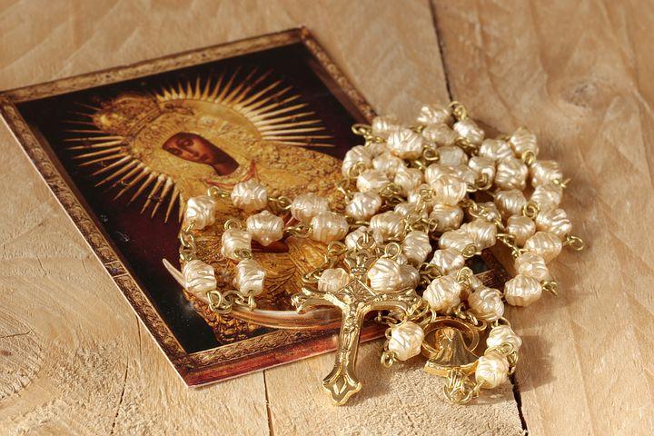 Rosary and Prayer Card