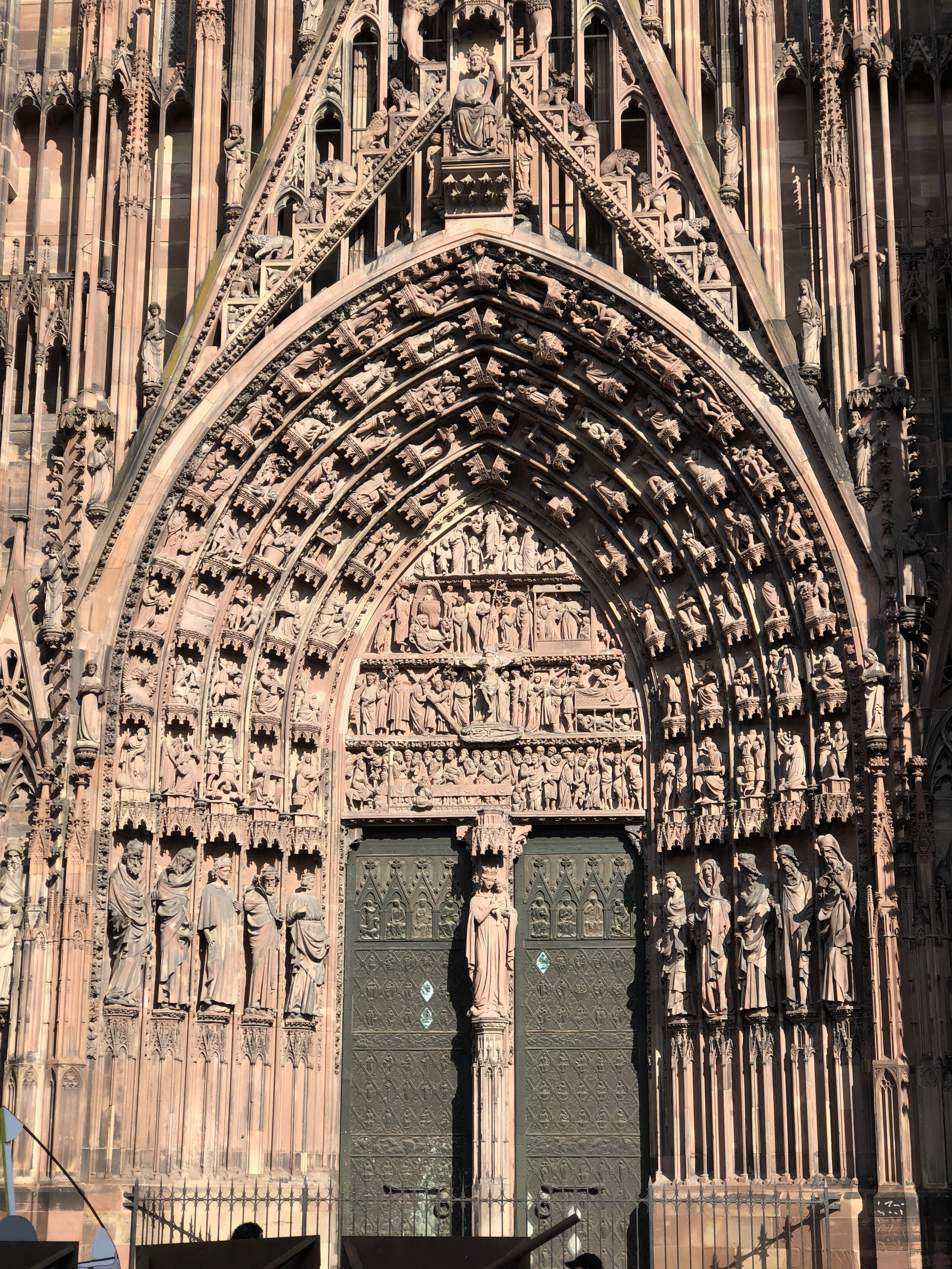 Entrance of the Cathedral of Notre Dame of Strasbourg