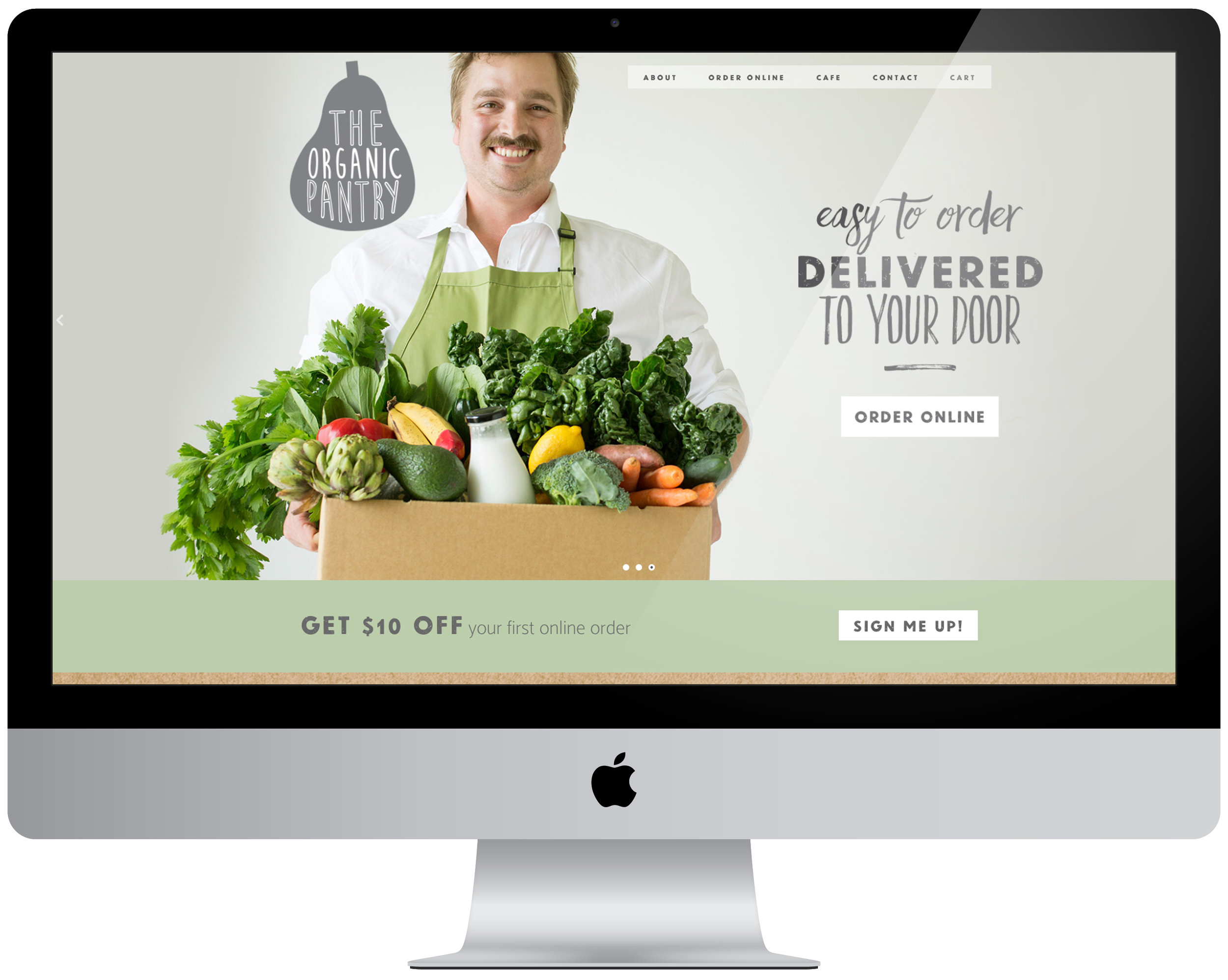 The Organic Pantry website, designed by our talented friends Teegan and Stephen of Verve Design - also completed through a trade/exchange arrangement!