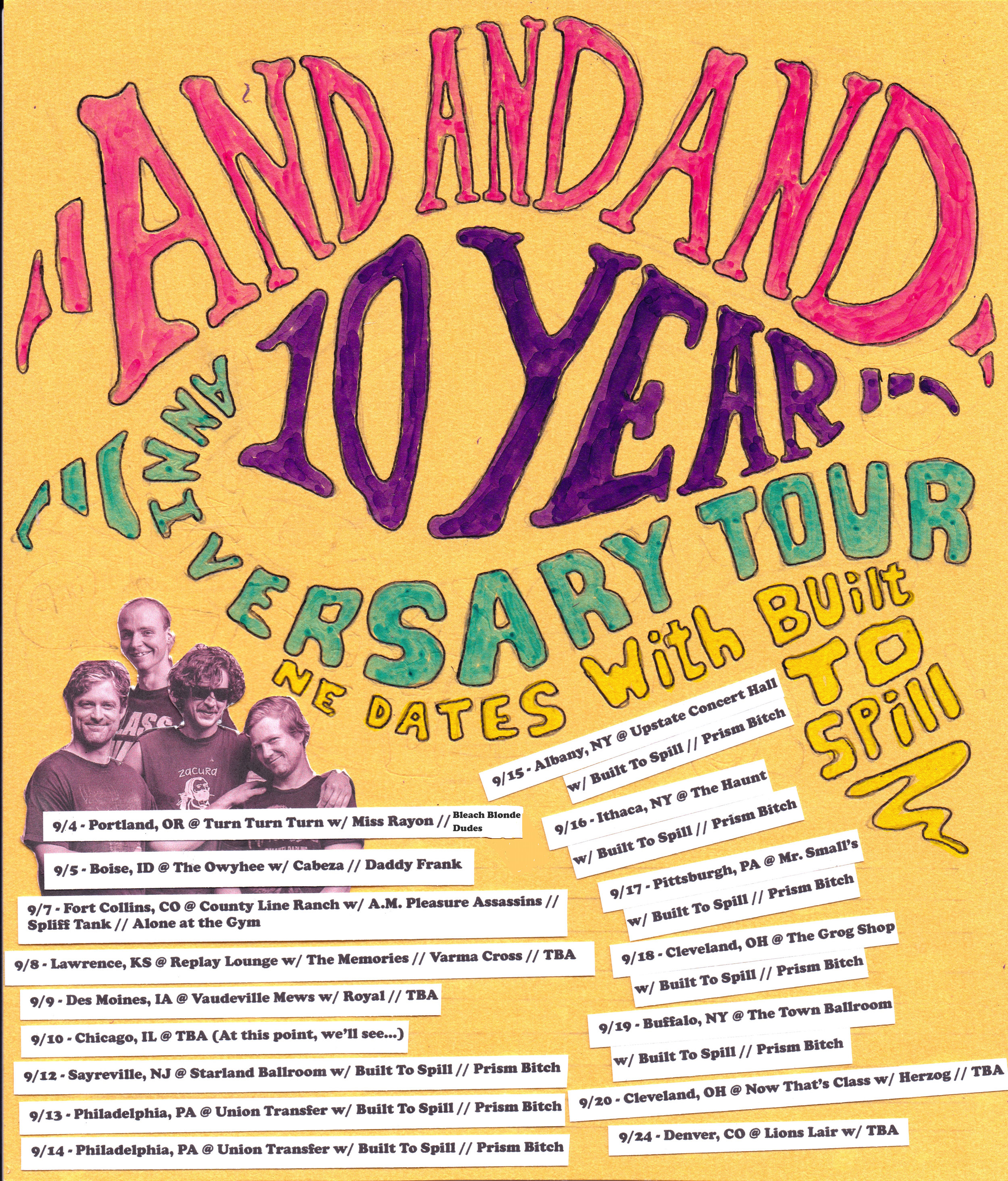 Holy shit! Ten year anniversary and a bunch of tour dates with Built To Spill!