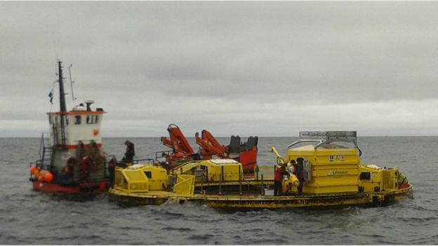 A test site in Falmouth Bay is helping wave energy device developers move their models forward