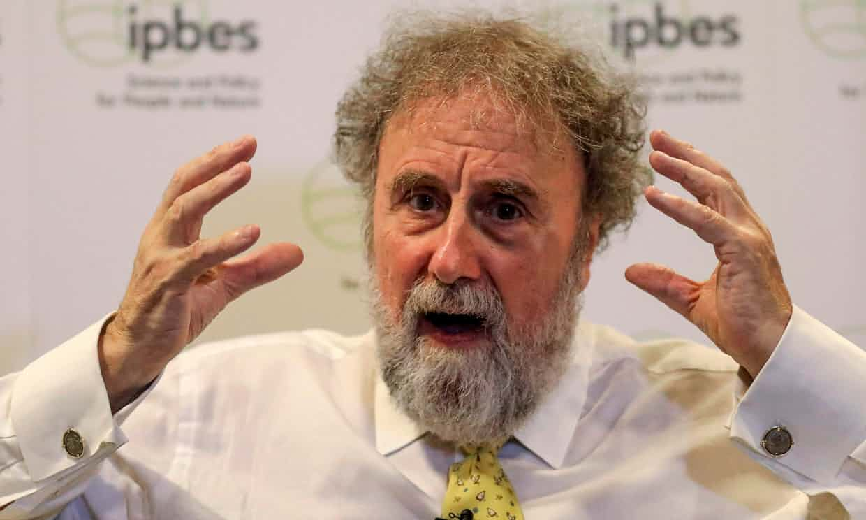 """Protecting biodiversity is """"as important as fighting climate change,' said Robert Watson, chair of IPBES speaking in Medellin, Colombia on 22 March Photograph: Joaquin Sarmiento/AFP/Getty Images"""