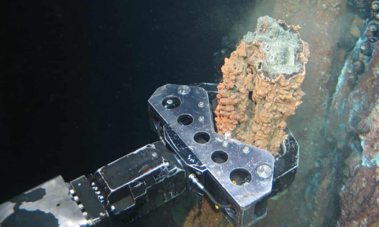 Leading scientists have warned that our oceans face severe and irreversible harm from deep-sea mining, with companies queuing up to extract metals and minerals from the seabed.' Photograph: Nautilus minerals