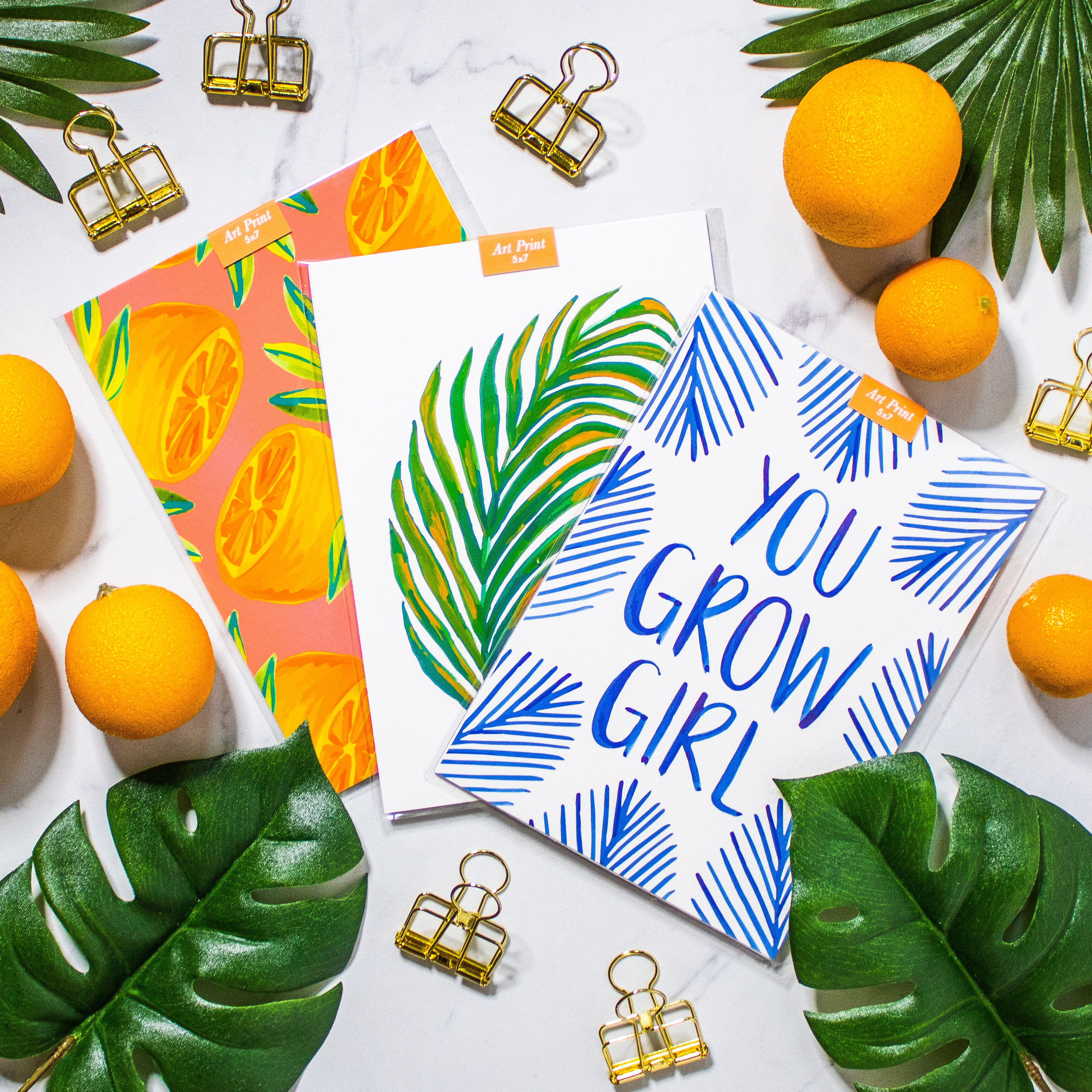 Botanical, citrus, and floral fine art prints. Archival quality, printed on cold press acid-free watercolor paper.