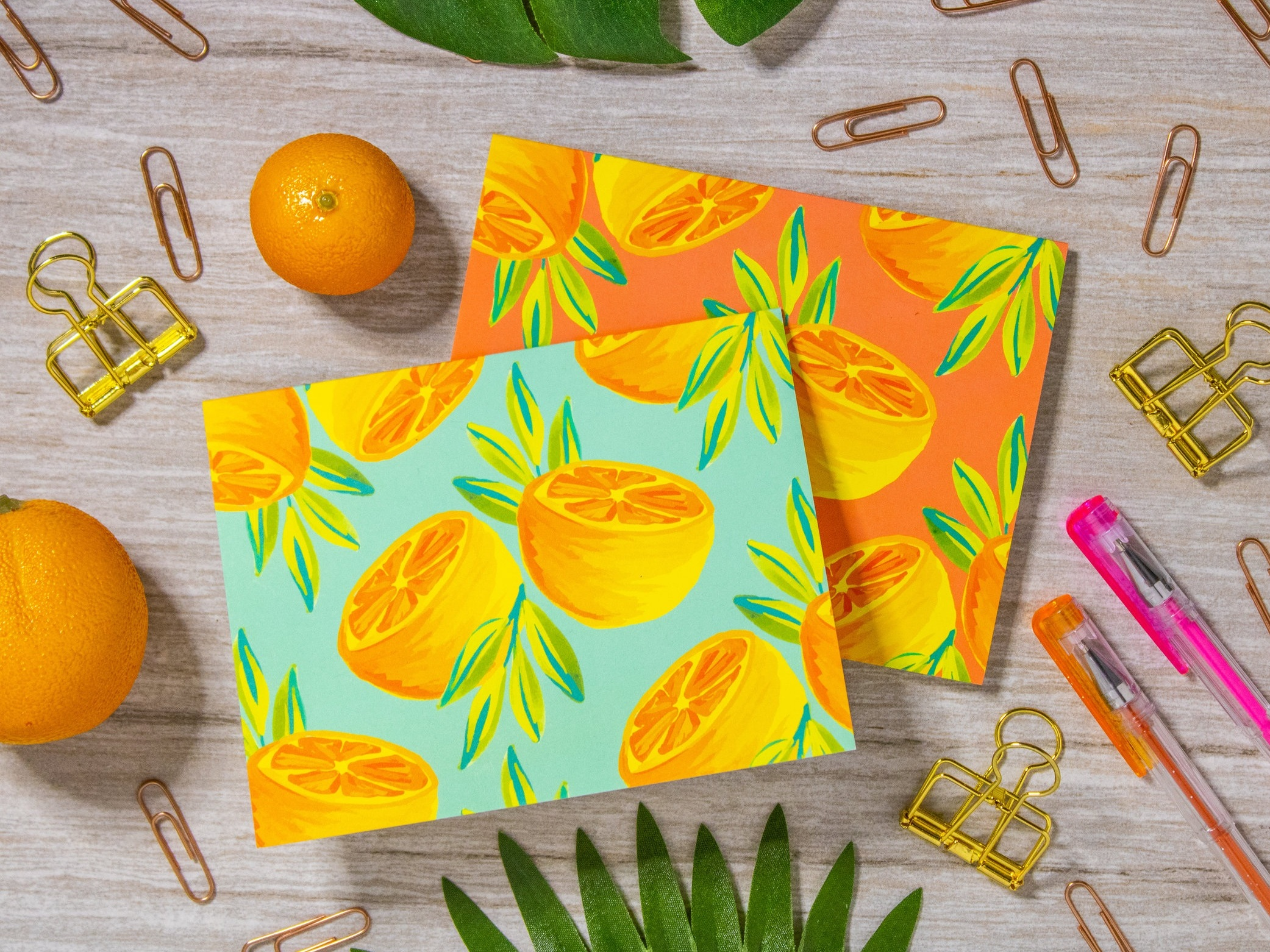 Orange Pair Eco-Friendly Notecards