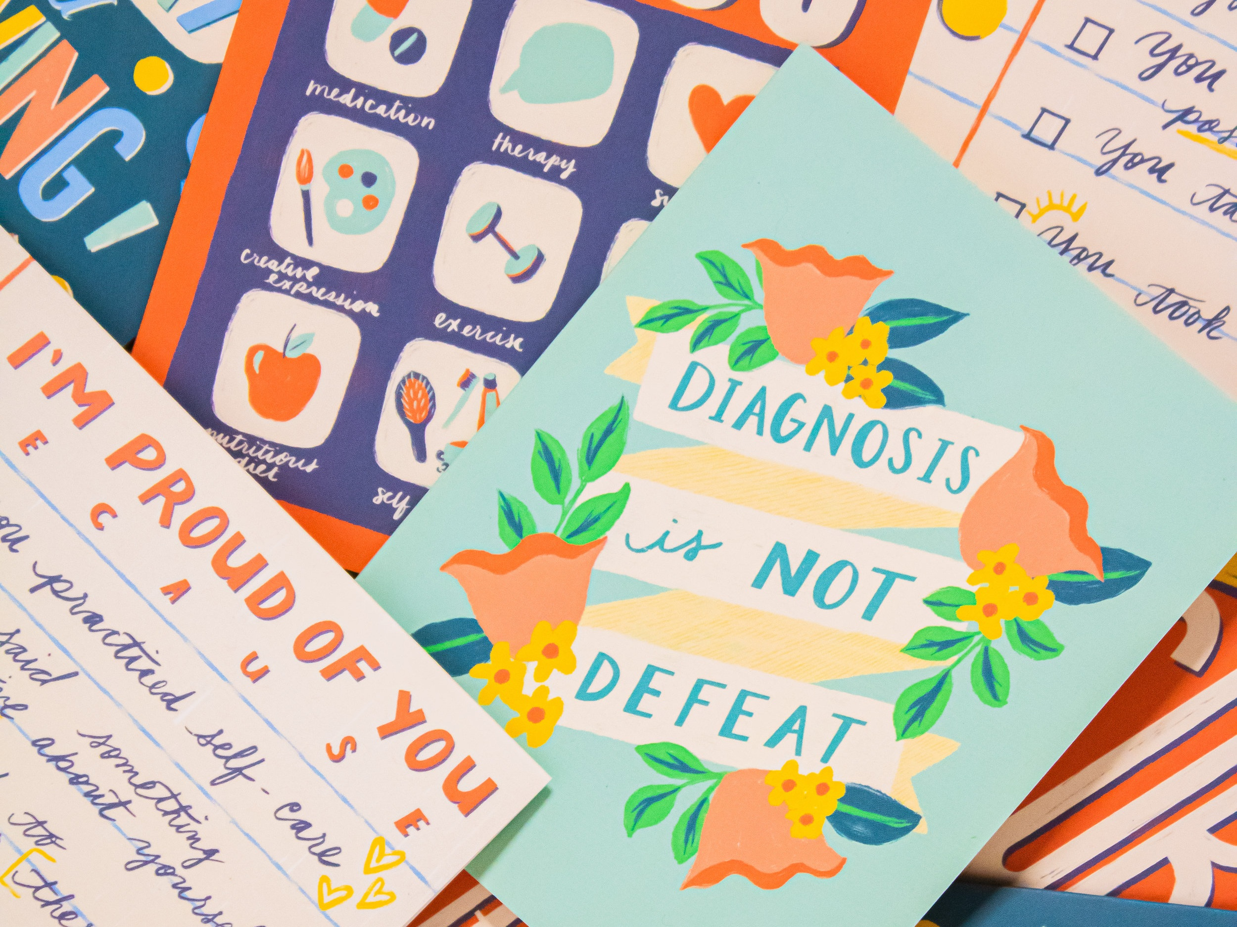 Mental Health Art and Greeting Cards