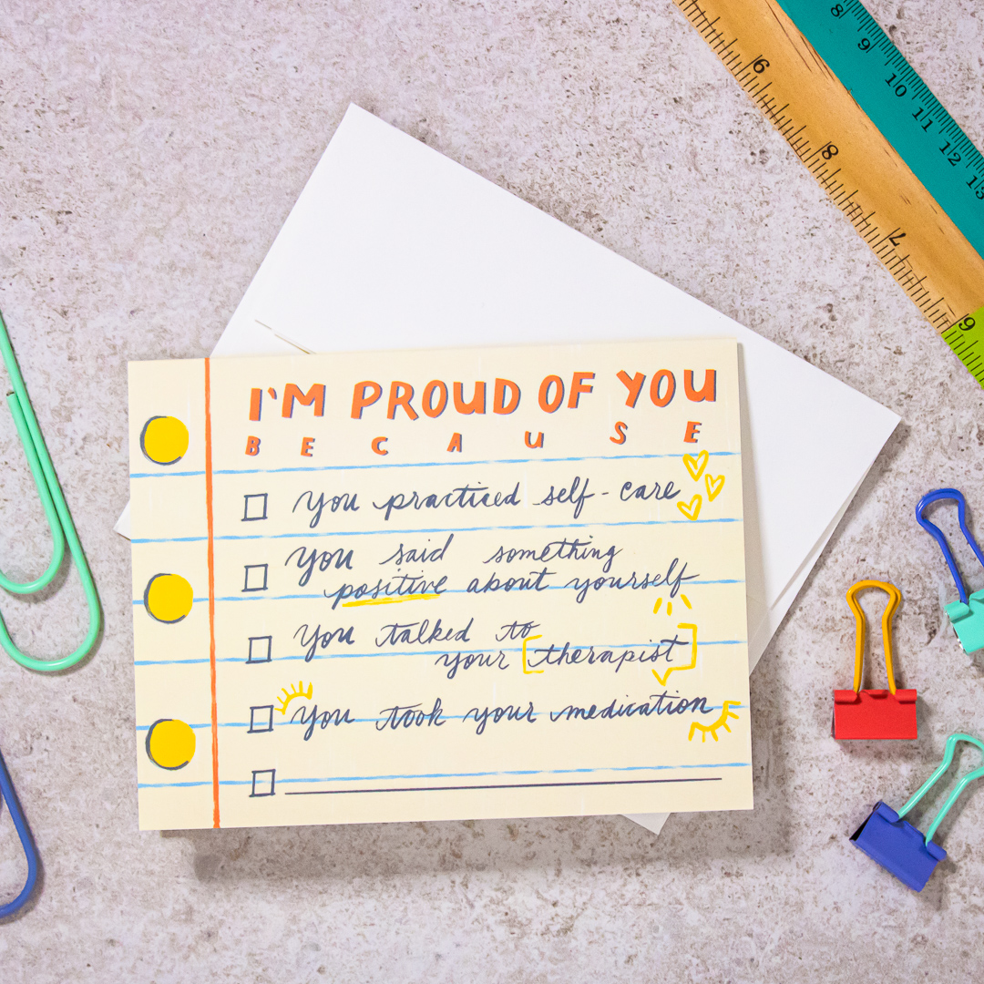 I'm Proud of You… Greeting Card , $5