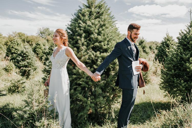 Cassidy & Isaac - Married - Nathaniel Jensen Photography - Omaha Nebraska Wedding Photograper - Nordstroms Christmas Tree Farm-2.jpg