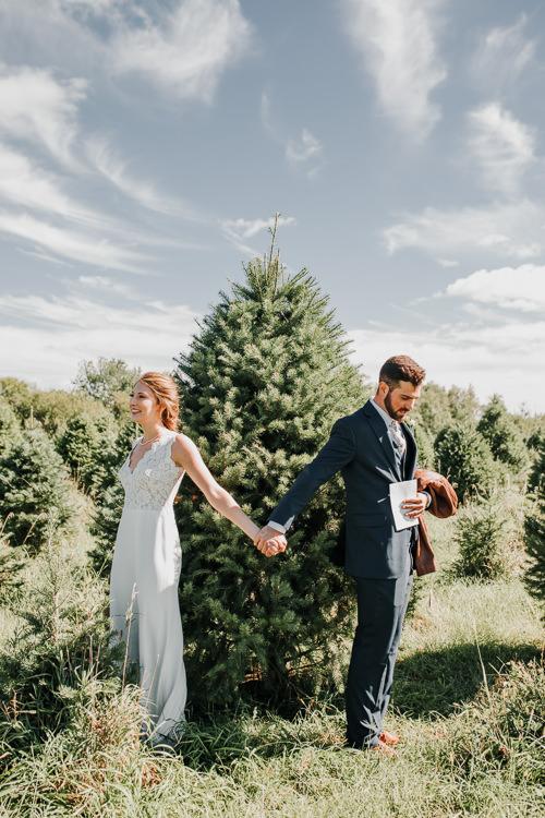 Cassidy & Isaac - Married - Nathaniel Jensen Photography - Omaha Nebraska Wedding Photograper - Nordstroms Christmas Tree Farm-3.jpg