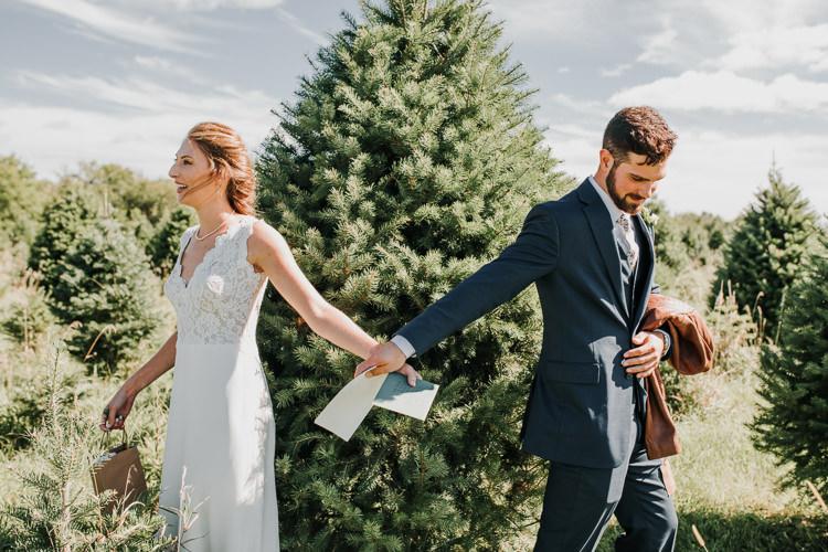 Cassidy & Isaac - Married - Nathaniel Jensen Photography - Omaha Nebraska Wedding Photograper - Nordstroms Christmas Tree Farm-5.jpg