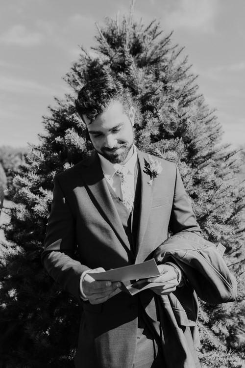 Cassidy & Isaac - Married - Nathaniel Jensen Photography - Omaha Nebraska Wedding Photograper - Nordstroms Christmas Tree Farm-9.jpg