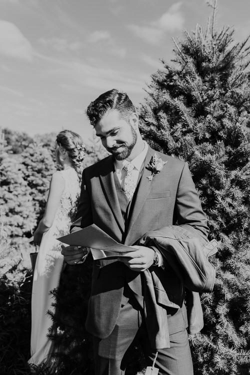 Cassidy & Isaac - Married - Nathaniel Jensen Photography - Omaha Nebraska Wedding Photograper - Nordstroms Christmas Tree Farm-10.jpg