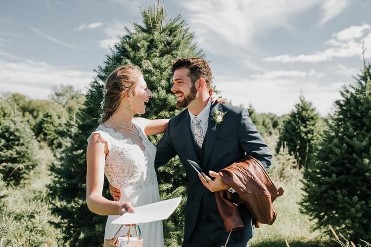 Cassidy & Isaac - Married - Nathaniel Jensen Photography - Omaha Nebraska Wedding Photograper - Nordstroms Christmas Tree Farm-12.jpg