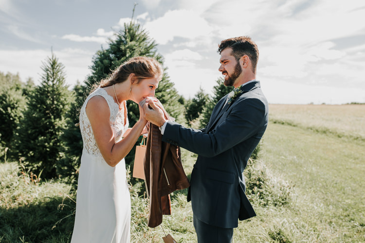 Cassidy & Isaac - Married - Nathaniel Jensen Photography - Omaha Nebraska Wedding Photograper - Nordstroms Christmas Tree Farm-14.jpg