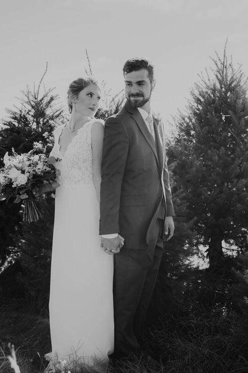 Cassidy & Isaac - Married - Nathaniel Jensen Photography - Omaha Nebraska Wedding Photograper - Nordstroms Christmas Tree Farm-150.jpg