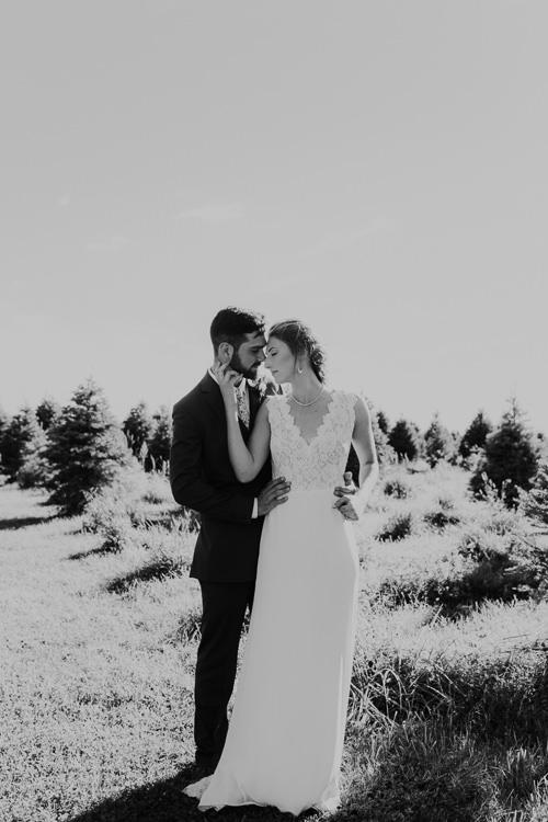 Cassidy & Isaac - Married - Nathaniel Jensen Photography - Omaha Nebraska Wedding Photograper - Nordstroms Christmas Tree Farm-157.jpg