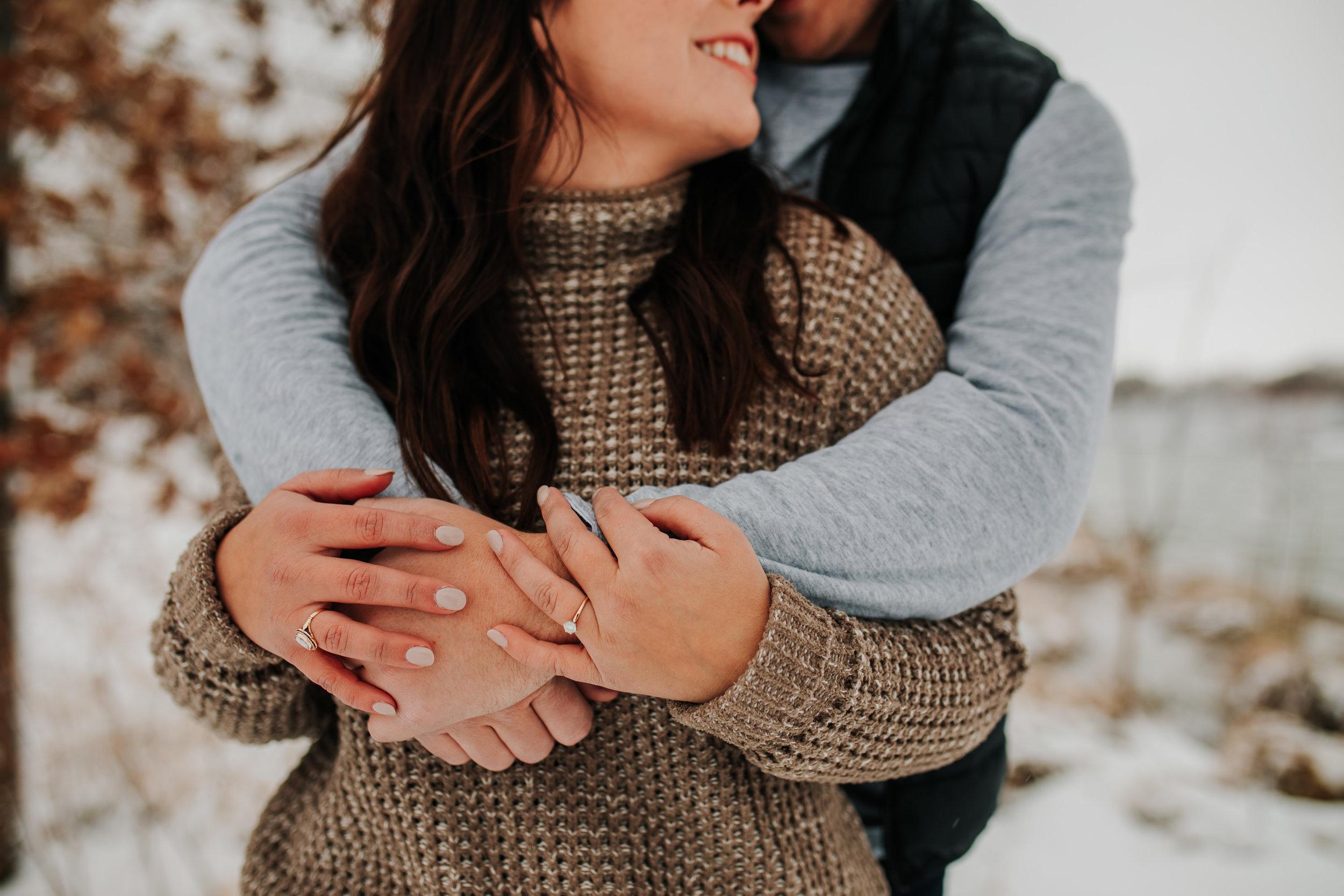 Vanessa & Dan - Engaged - Nathaniel Jensen Photography - Omaha Nebraska Wedding Photographer - Standing Bear Lake - Snowy Engagement Session-6.jpg
