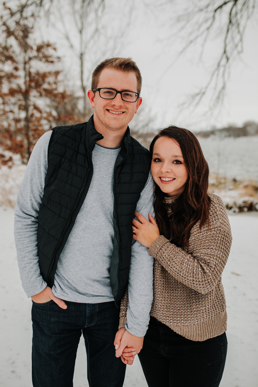 Vanessa & Dan - Engaged - Nathaniel Jensen Photography - Omaha Nebraska Wedding Photographer - Standing Bear Lake - Snowy Engagement Session-9.jpg