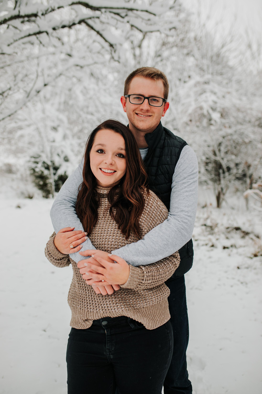 Vanessa & Dan - Engaged - Nathaniel Jensen Photography - Omaha Nebraska Wedding Photographer - Standing Bear Lake - Snowy Engagement Session-18.jpg