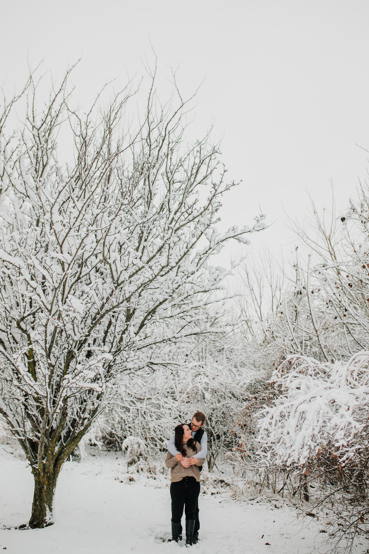 Vanessa & Dan - Engaged - Nathaniel Jensen Photography - Omaha Nebraska Wedding Photographer - Standing Bear Lake - Snowy Engagement Session-22.jpg